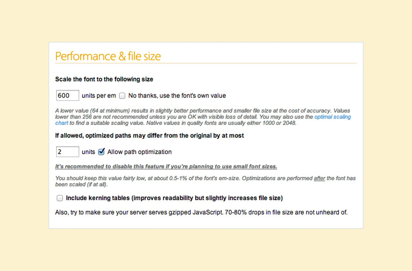 Tutorial - Reducing The File Size Of Custom Web Fonts - Blog - Parallax